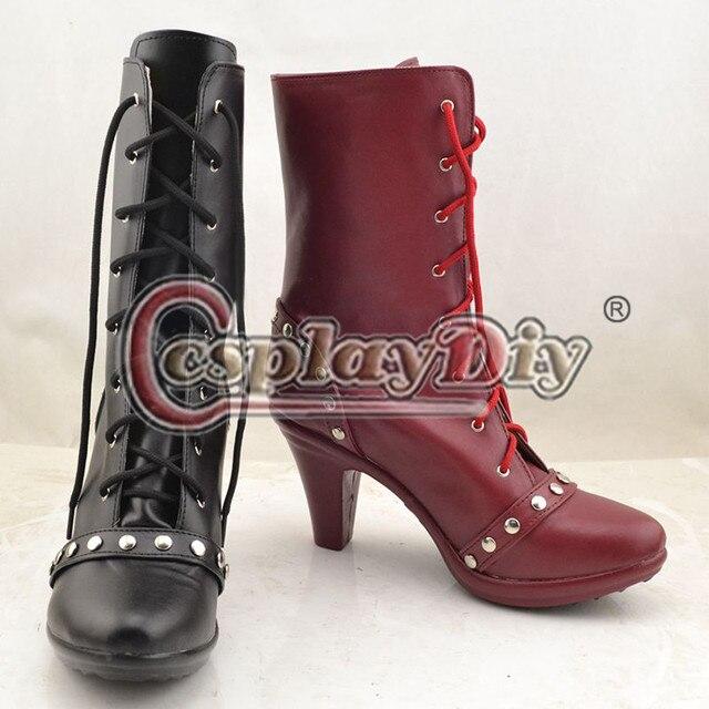 Batman : Arkham caballero Harley Quinn Cosplay Shoes Boots por encargo adultos de Halloween Cosplay accesorios