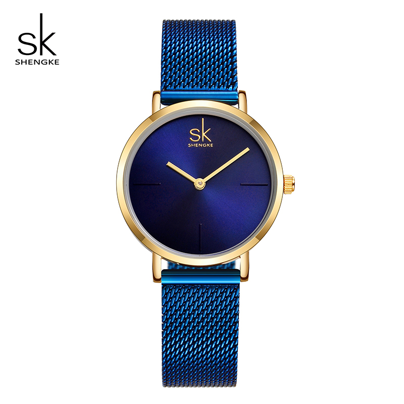 Shengke Wrist Watch Women Fashion Steel Quartz Watches Bracelet Clock Relogio Feminino 2018 SK Creative Ladies Watches #K0043 1