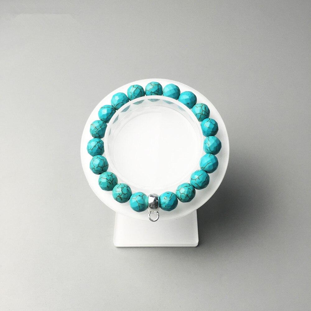 10mm Facet Green Rammel Beads Bracelets with Silver Carrier Fit Charm 2018 Brand Fashion DIY Bracelet Jewelry Gift For Women Men