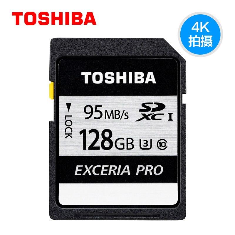 Toshiba Memory Card UHS U3 32GB 95MB/s SDHC SD cards 4K Card SDHC Flash memory 64G EXCERIA PRO Digital SLR Camera Camcorder DV цена