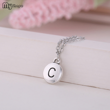 My Shape 2019 Summer Chain Metal Crystal C Letter Pendant Small Jewelry Womens Necklace