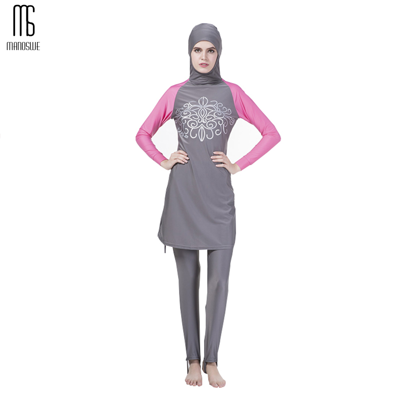 Muslim Swimsuit Islamic Lady Conservative Bathingsuit Full Cover Beach Skirts Muslim Swimwear Hijab Swimsuits Plus Size Burkinis