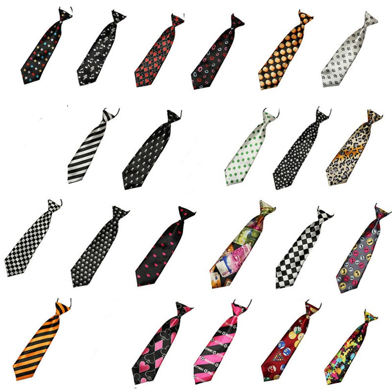 1Pcs 3D Stripe Plaid Print Men Neck Ties Fashion School Boys Children Kids Baby Men Wedding Elastic Tie Multi Colors