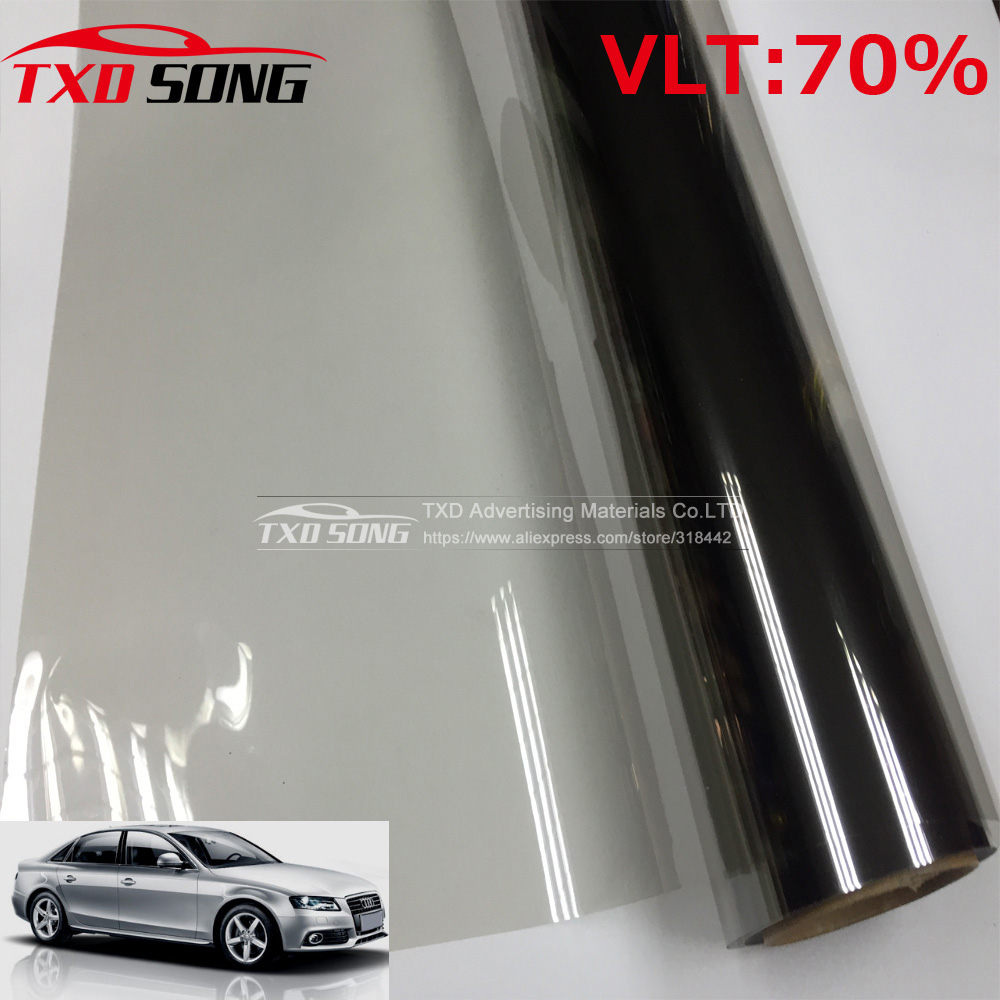 50x300cm grey car window tint film front side glass window for Window tint film