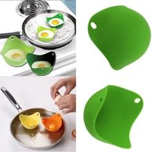 2 PCS Multi Color Silicone Pancake Egg Baking Cup Poacher Cook Poach Pods Kitchen Cookware Bakeware ToolHot  Sales