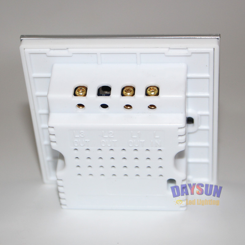 Image 4 - New Wall Switch Touch Button Light Switch ON OFF Control Smart Switch 2Gang 2Way White Crystal Glass Panel Hotel Flower Switch-in Switches from Lights & Lighting