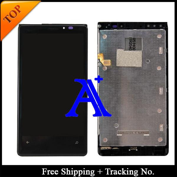 Envío gratis 100% probados Original para Nokia 920 LCD Lumia 920 LCD pantalla táctil de pantalla con marco - negro
