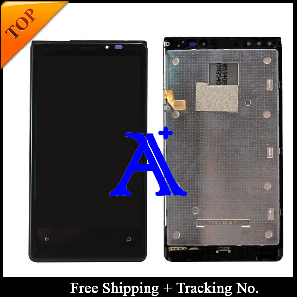 Free Shipping 100% tested Original For Nokia 920 LCD Lumia 920 LCD Display touch screen Assembly with Frame -Black