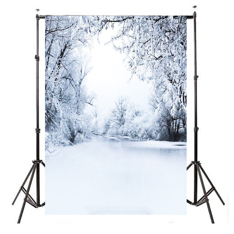 3x5FT Snow Scene Photography Background For Studio Photo Props Thin Vinyl Photographic Backdrops 150x90cm cloth
