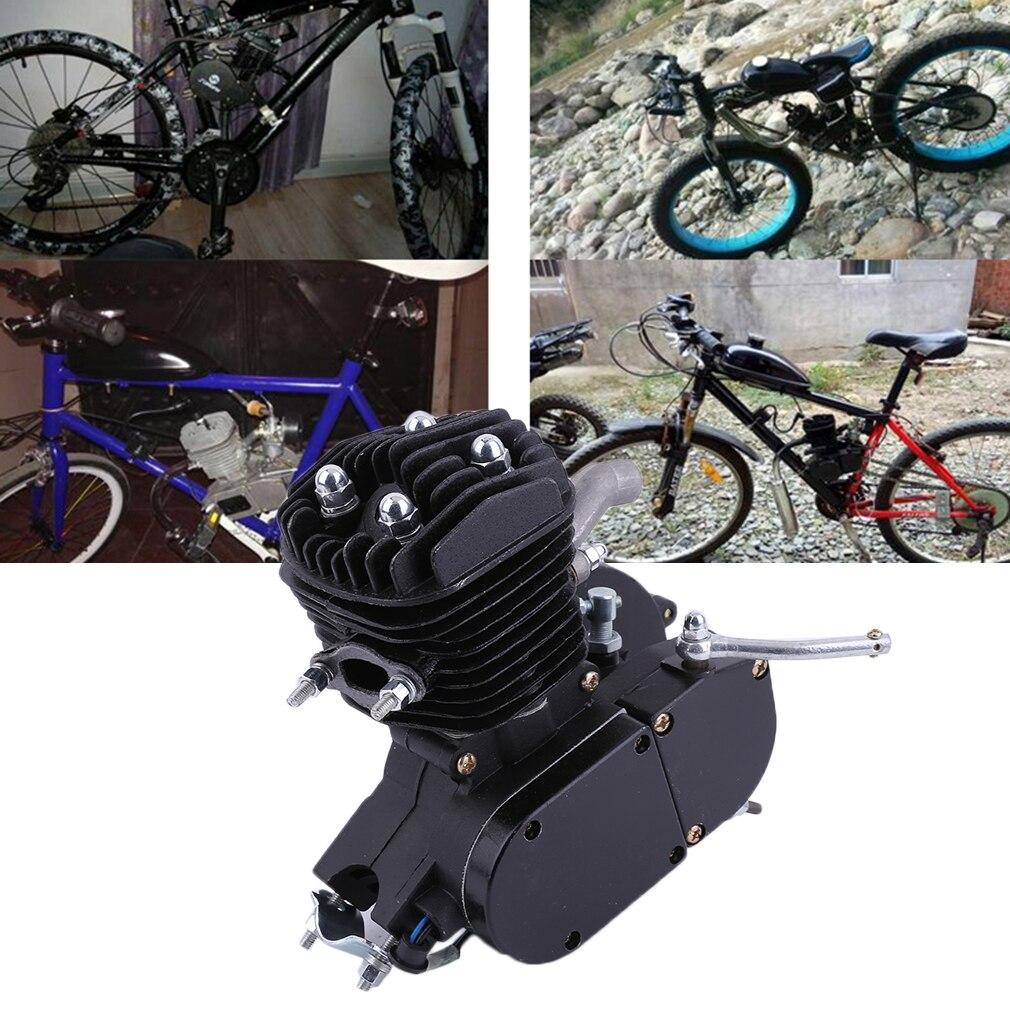 קידום מעודן 2 שבץ 80cc מחזור מנוע מנוע ערכת גז מושלם עבור ממונע אופניים מחזור אופניים שחור