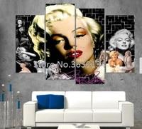 DIY Diamond Painting Cross Stitch Kit Full Round Diamond Embroidery 5D Square Diamond Mosaic Home Decoration Marilyn Monroe 4pcs