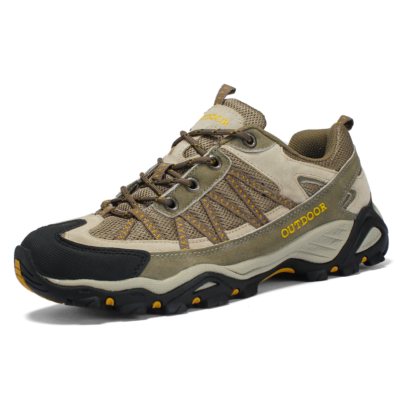 Big Size Man Mesh Hiking Shoes Breathable Mountain Walking Shoes Wearproof Outdoor Trecking Camping Shoes Retro