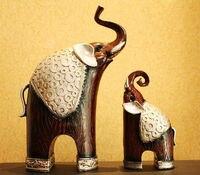 ANGRLY Kopen 1 1 GRATIS Thailand antieke Hars olifant Model Afrika olifant Mascotte Hars ambachtelijke ornamenten Indoor Home Decor