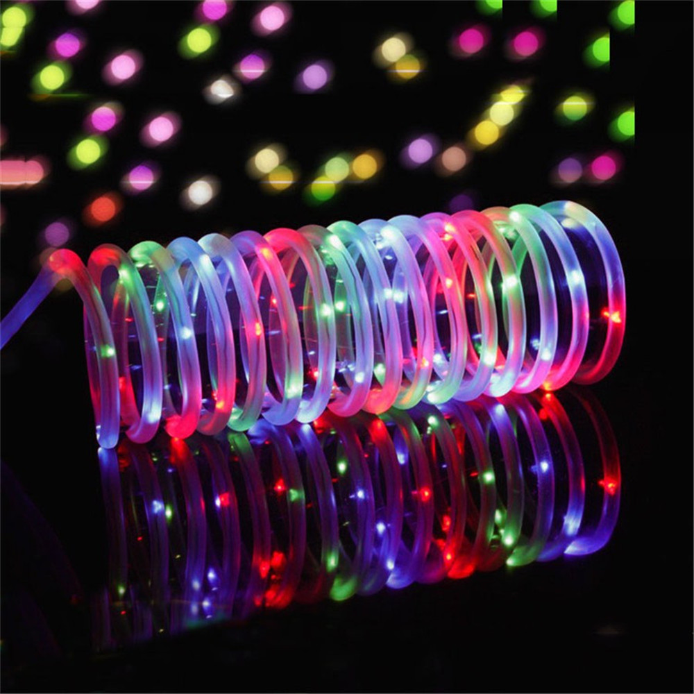 separation shoes 7075c f8ff4 US $9.64 25% OFF|7M 12M 50/100leds Solar LED String Light Outdoor Rope Tube  Fairy String Garland Christmas Lighting for Home Garden Lawn Decor-in LED  ...