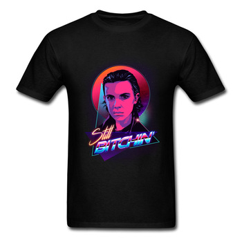 Brand New Neon Character Portrait Men Black T-shirt Art Design Hip-hop Styling Adult Tops & Tees Bitchin Fashion T Shirts image