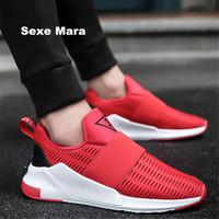New Men shoes 2017 summer casual outdoor shoes flat A pedal net breathable fashion joker Platform apartment shoes zapatos hombre
