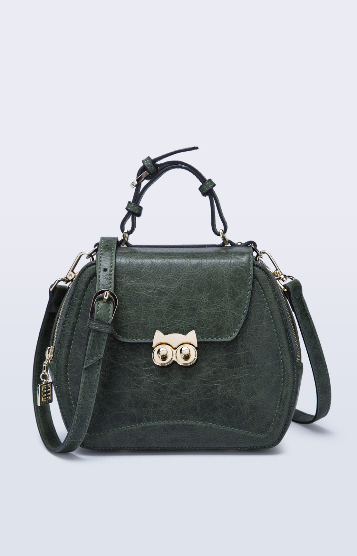 Boyatu brand  Genuine  Leather women handbag  Original fashion Lovely  bag Cat forest  series Designer recommend boyatu genuine sheepskin leather hand made large handbag fashion commuter bag