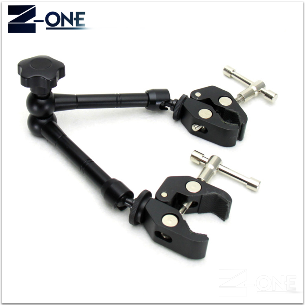 11inch Adjustable Friction Articulating Magic Arm+Super Clamp+Phone Clip For DSLR LCD Monitor LED Video Light Camera Accessories