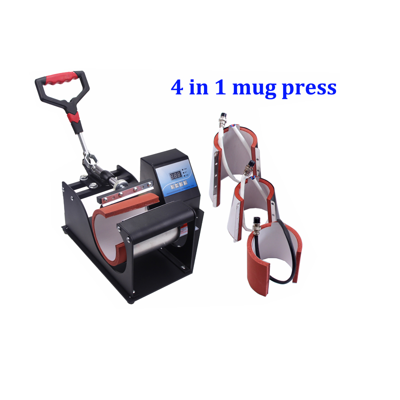 High Quality New Design 4 In 1 Mug Heat Press Machine Mug Printer Press Machine Combo