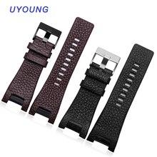 Wysokiej jakości pasek do zegarka z prawdziwej skóry 32*17MM wycięcie do Diesel DZ1216 DZ4246 wath band specjalny interfejs wymiana skórzany pasek