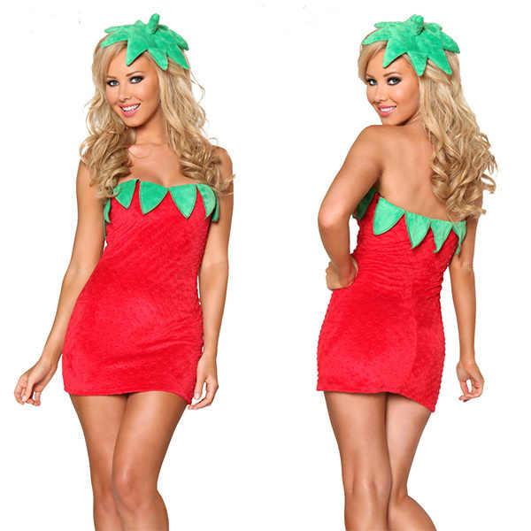 Adult Women Pineapple Strawberry Flirty Fruit Book Week Day Costume Fancy Dress