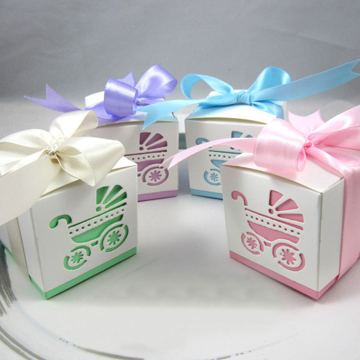 50PCS Laser Cut Baby Carriage Favor Candy Box Party Baby Shower Decorations  Wedding Party Favor Gift Bags With Ribbon On Aliexpress.com | Alibaba Group