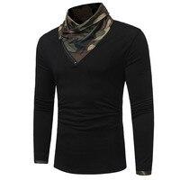 HEIßER 2018 Herbst winter camouflage mode langhülse Haufen kragen T-shirt han-ausgabe freizeit dünn t T-shirt