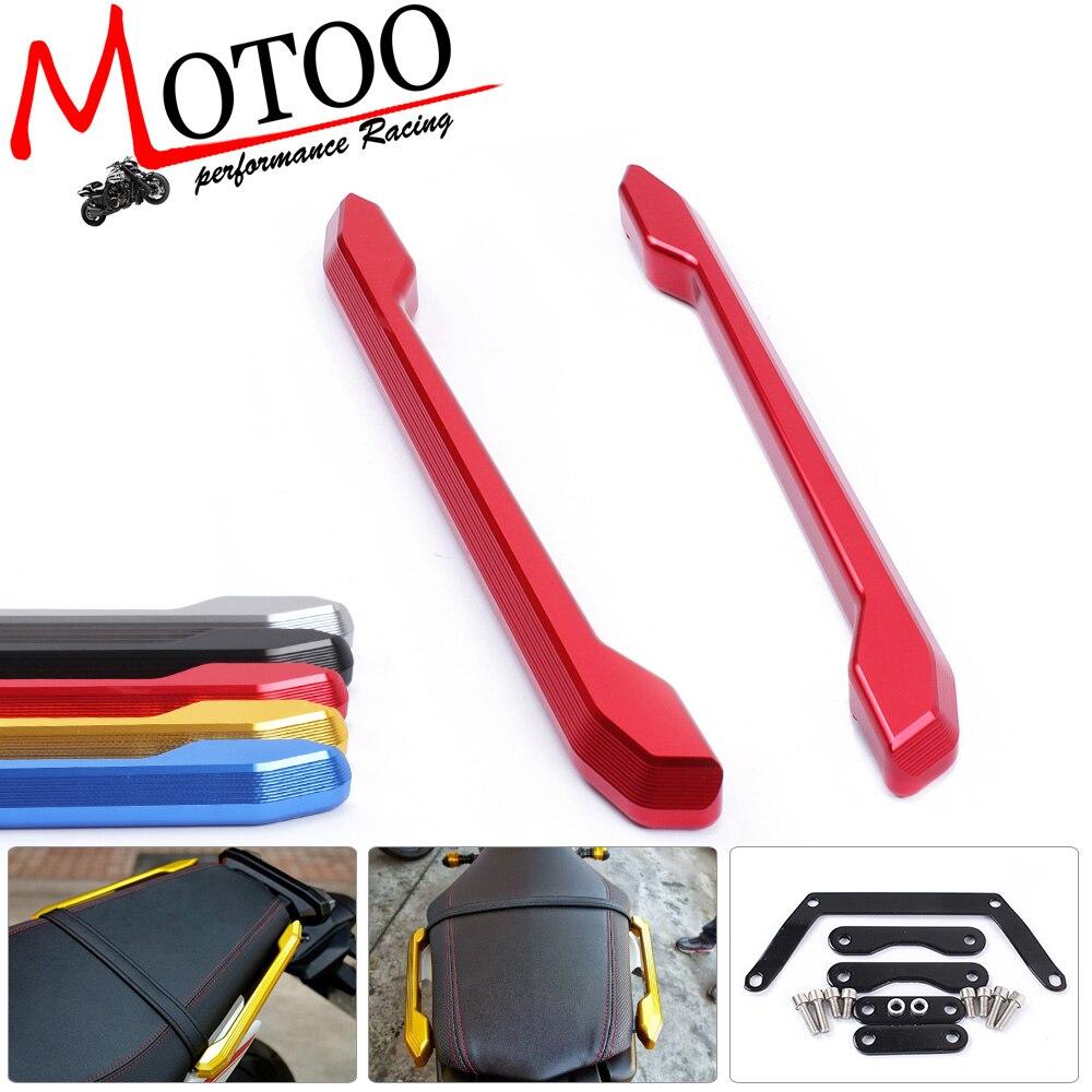 Motoo - High Quality Rear Grab Bars Rear Seat Pillion Passenger Grab Rail Handle For Yamaha MT09 MT-09 2014-2016 car accessories front seat grab handles grab bars 2