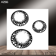 AZSG Textured Round Clear Stamps/Stamp/For Scrapooking/Card Making/Silicone Stamps/Decoration  Crafts