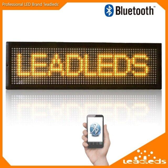 101X16 СМ Bluetooth Светодиодный дисплей крытый Программируемый Прокрутка Сообщение светодиодная вывеска для Бизнеса и Магазин-ЖЕЛТЫЙ сообщение
