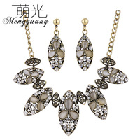 Accessories fashion all-match fashion accessories huge vintage necklace stud earring jewelry set
