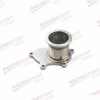 T3/T4 Turbo 5 Bolt Exhaust Turbo Down Pipe Flange To 2.5 63mm V band Adapter