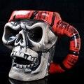 Personality skull mug ceramic cup horror Coffee mug Halloween supplies bar decoration