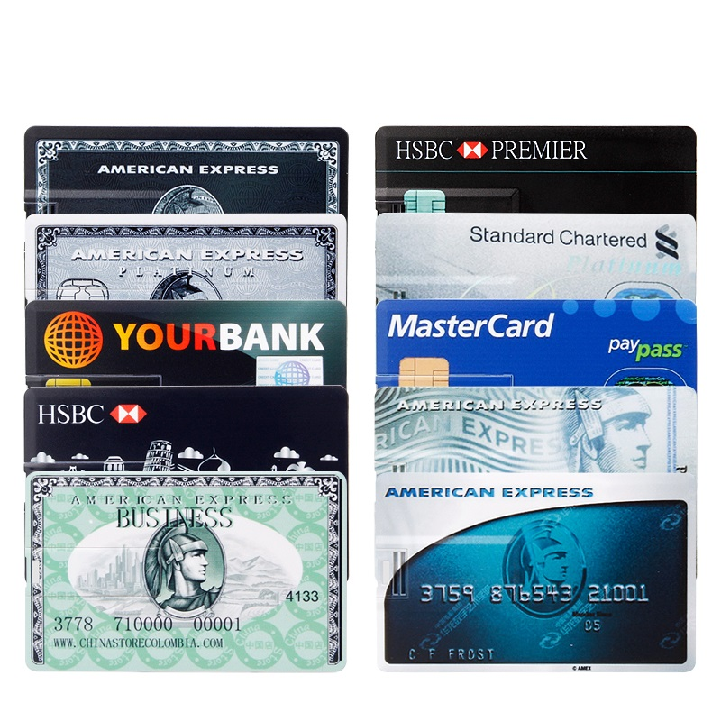 Image 5 - waterproof Super Slim Credit Card usb flash drive 2.0 pendrive 128GB 64GB 16GB 8GB 4GB HSBC Master Card pen drive 32GB Free logo-in USB Flash Drives from Computer & Office
