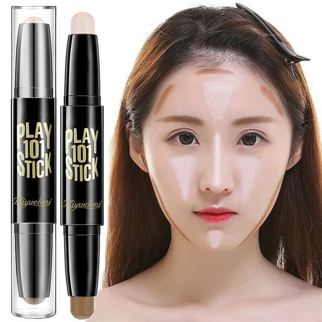 Lady Facial Highlight Foundation Base Contour Stick Beauty Make Up Face Powder Cream Shimmer Concealer Camouflage Pen Makeup 1