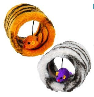 Free shipping Pet toys,cat tunnel with mouse cat toy with mice four colors 20pcs/lot