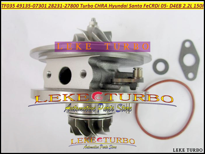 Turbo Cartridge CHRA TF035 49135-07300  49135-07301 28231-27800 Turbocharger For HYUNDAI Santa Fe CRDi 2005-09 D4EB D4EB-V 2.2L tf035 turbo charger variable vain nozzle ring vnt 49135 07311 49135 07310 28231 27810 for hyundai santa fe 2 2 crdi 155 hp d4eb