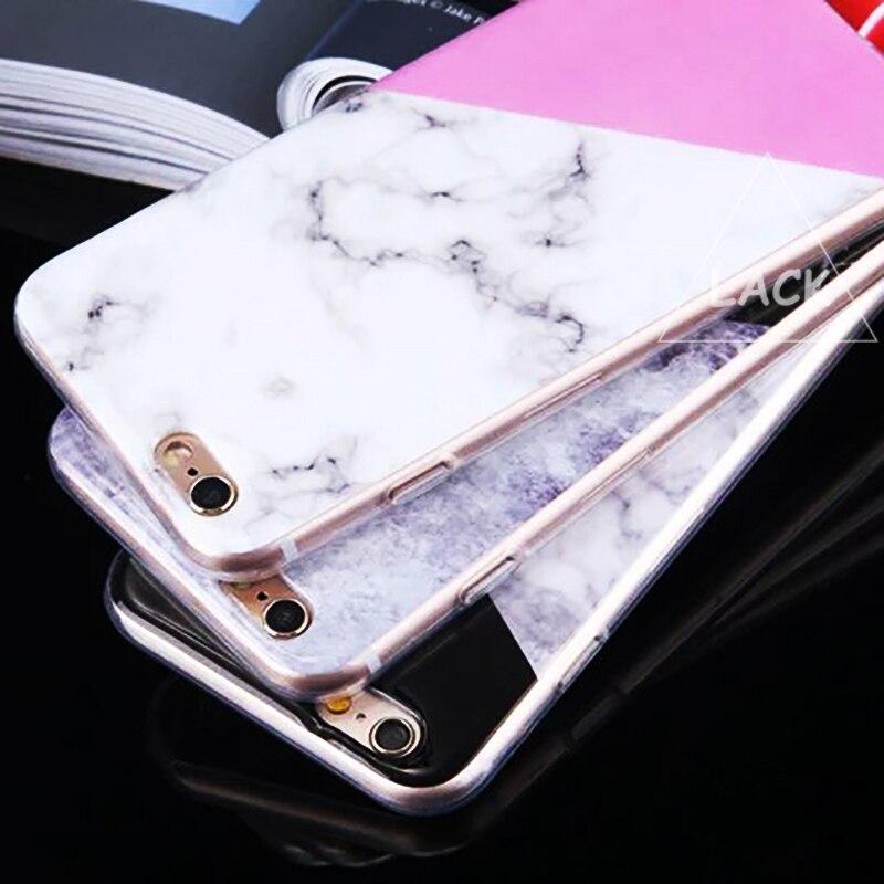 Suave delgada mármol cajas del teléfono para el iphone 5s 5 se 6 6 s más Caso Mo