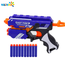 Gun Toy for NERF Soft Bullet Gun Rival Elite Series Outdoor Fun & Sports Toy Gift for Kids Boys + 10 EVA Bullets Good Packagaing