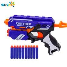 Pistolet zabawka dla NERF miękki pocisk pistolet Rival Elite Series zabawa na świeżym powietrzu i sportowe zabawki prezent dla dzieci chłopcy + 10 kulek EVA dobre opakowanie