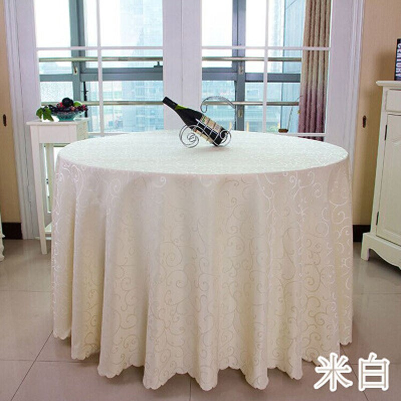 Solid Striped hHigh-end Polyester Round Table Cover Dining Table Cloth Tablecloth Conference Hook Flower Hotel Office Wedding ...