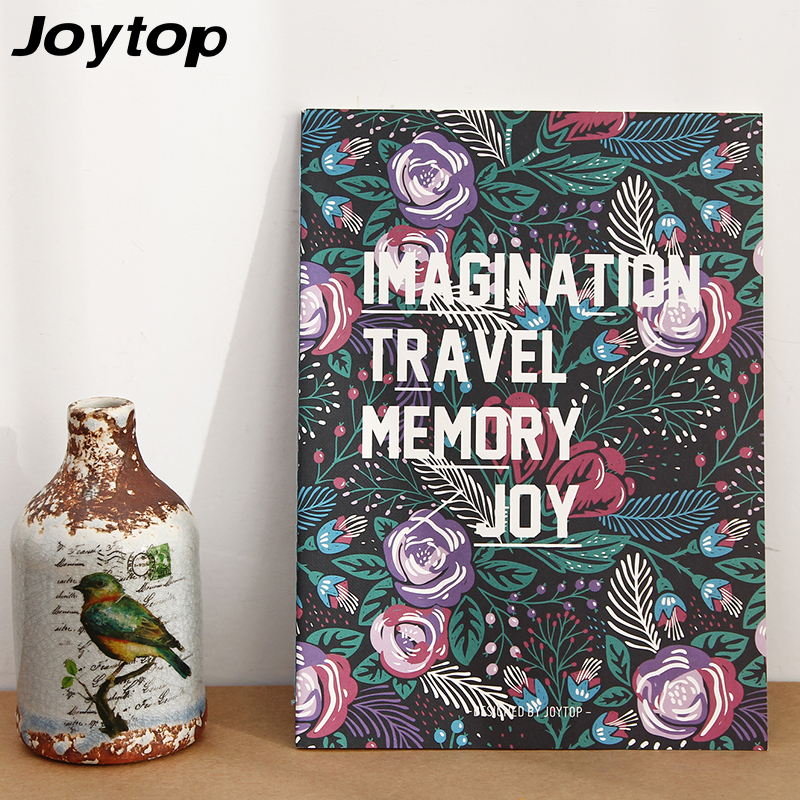 Joytop Flowery butterfly Planner B5 Notebook Travel Journal Diary Book Exercise  Binding Note Notepad Gift 2017 School supplies death note book hot fashion anime theme death note cosplay notebook new school large writing journal 20 5cm 14 5cm
