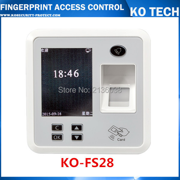Color Fingerprint Access Control System Time Clock Attendance ID Card Reader TCP/IP + USB FREE SHIPPING wholesale realand m f131 color fingerprint access control system time clock attendance id card reader tcp ip usb free shipping