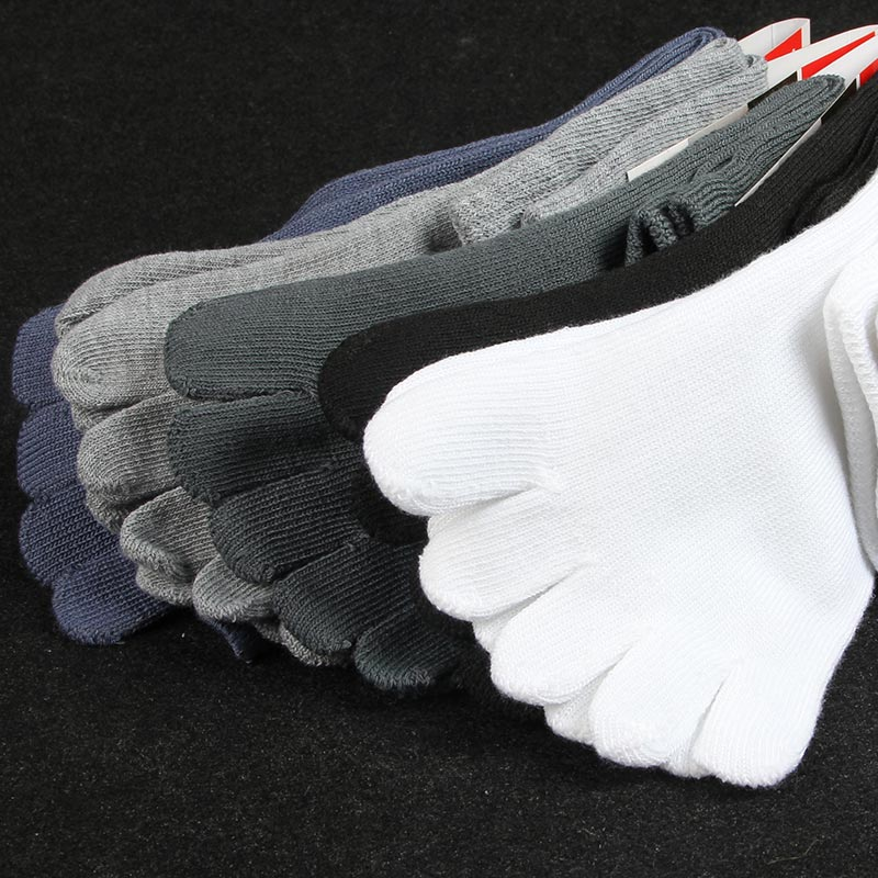 10 Pairs Mens Cotton Toe Socks Boys Breathable Five Finger Socks Spring Winter Style