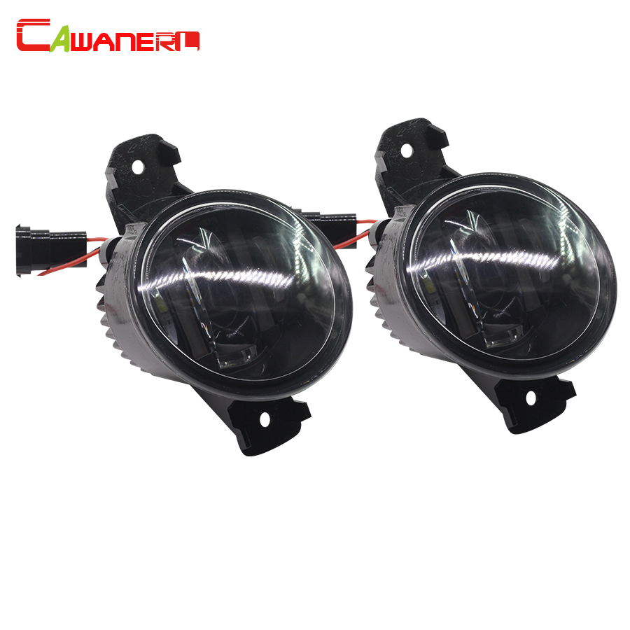 Cawanerl 2 X Car LED Fog Light Daytime Running Lamp For Nissan Platina Presage Fuga Dualis Grand Livina Almera Bluebird Sylphy teana fog light 2pcs set led sylphy daytime light free ship livina fog light