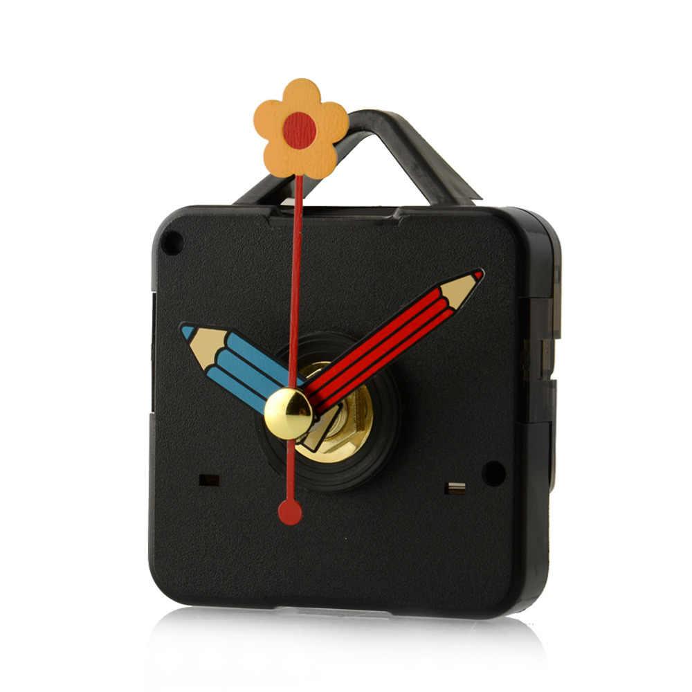 1 เซ็ตเงียบขนาดใหญ่นาฬิกานาฬิกา Quartz Movement กลไกและมือสีแดงชุดซ่อมเครื่องมือชุดตะขอ Saat drop Shipping