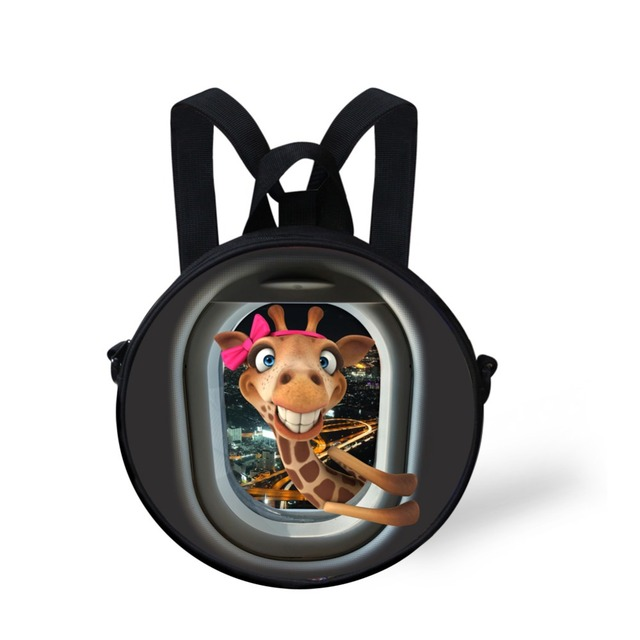 Mini Bebé Bolsas Escuela Kindergarten Lindo Zoo Animal Jirafa Pato Impresión Niños Mochilas Niños Niñas Mochila Mochila Feminina