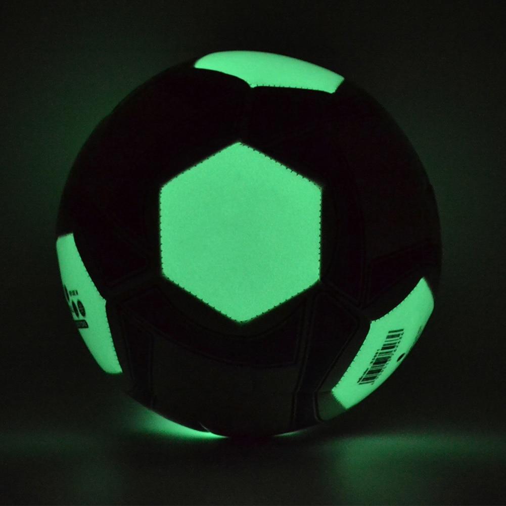 4 5 adicolor Luminous Football Soccer Ball Soccer Night Light Game Train Rubber Luminescence Children adult