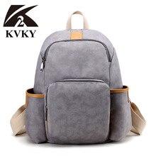 Kvky Новинка 2017 года Дизайн женщины рюкзак конфеты 6 цветов школьная сумка рюкзак холст для девочек-подростков рюкзак случайные путешествия рюкзак