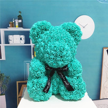 2019 Dropshipping 40cm Foam Rose Bear PE Artificial Flower Christmas New Year Gifts for Women Valentines Day Lovers Gift